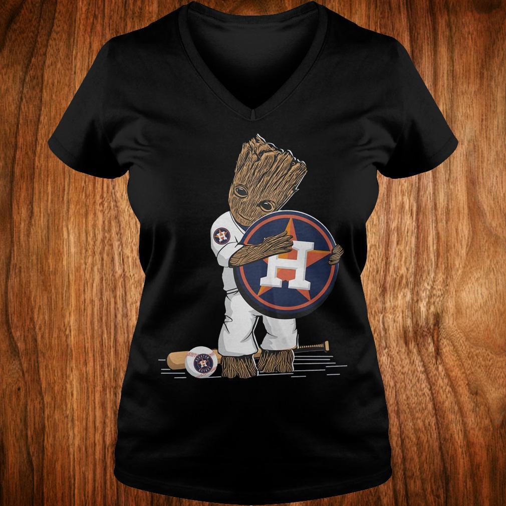 Baby Groot Houston Astros shirt Ladies V-Neck
