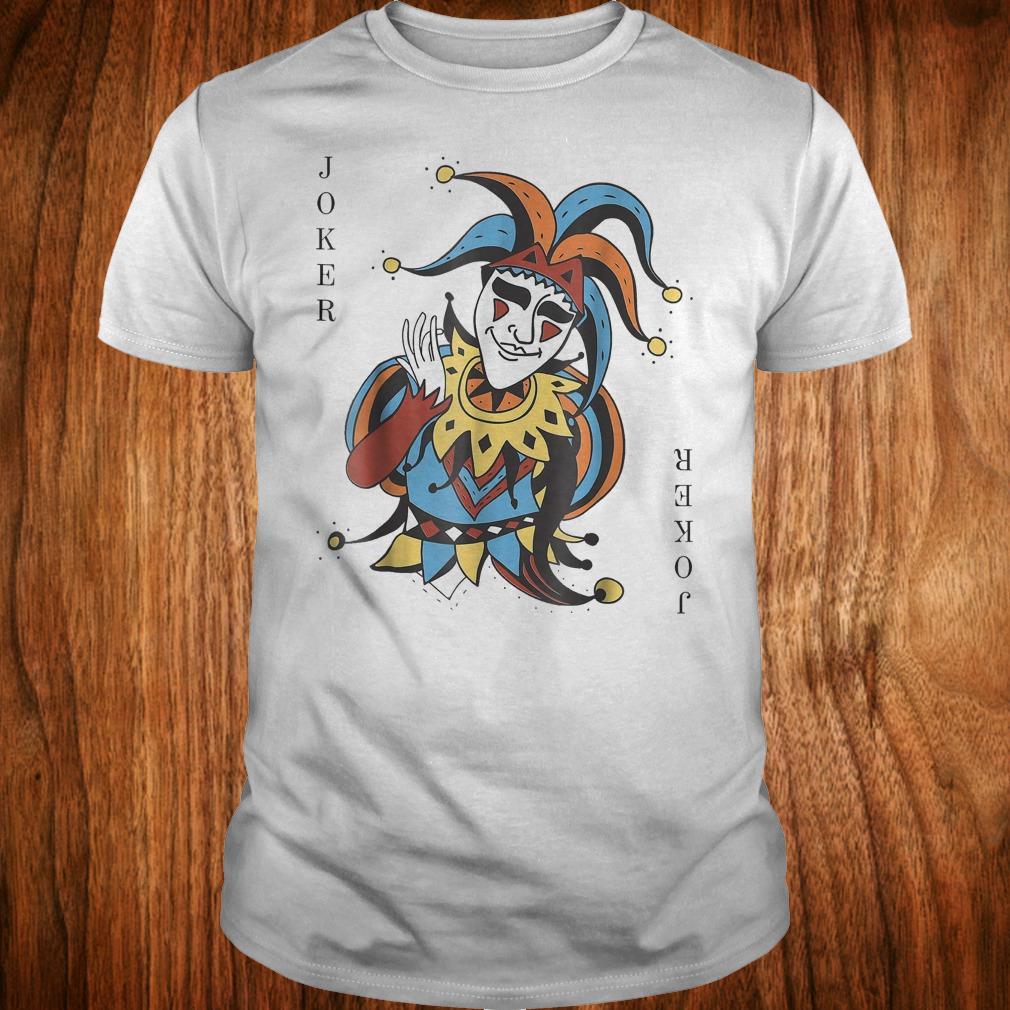 Halloween Joker Card.Joker Playing Card Halloween Costume Wild Card Shirt 1st T Shirt