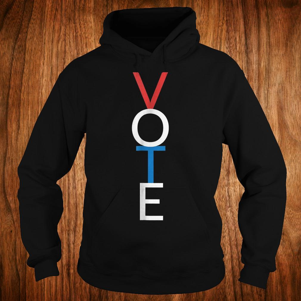 Premium Vote red white blue simple midterm election Shirt Hoodie