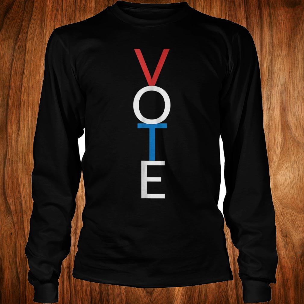 Premium Vote red white blue simple midterm election Shirt Longsleeve Tee Unisex