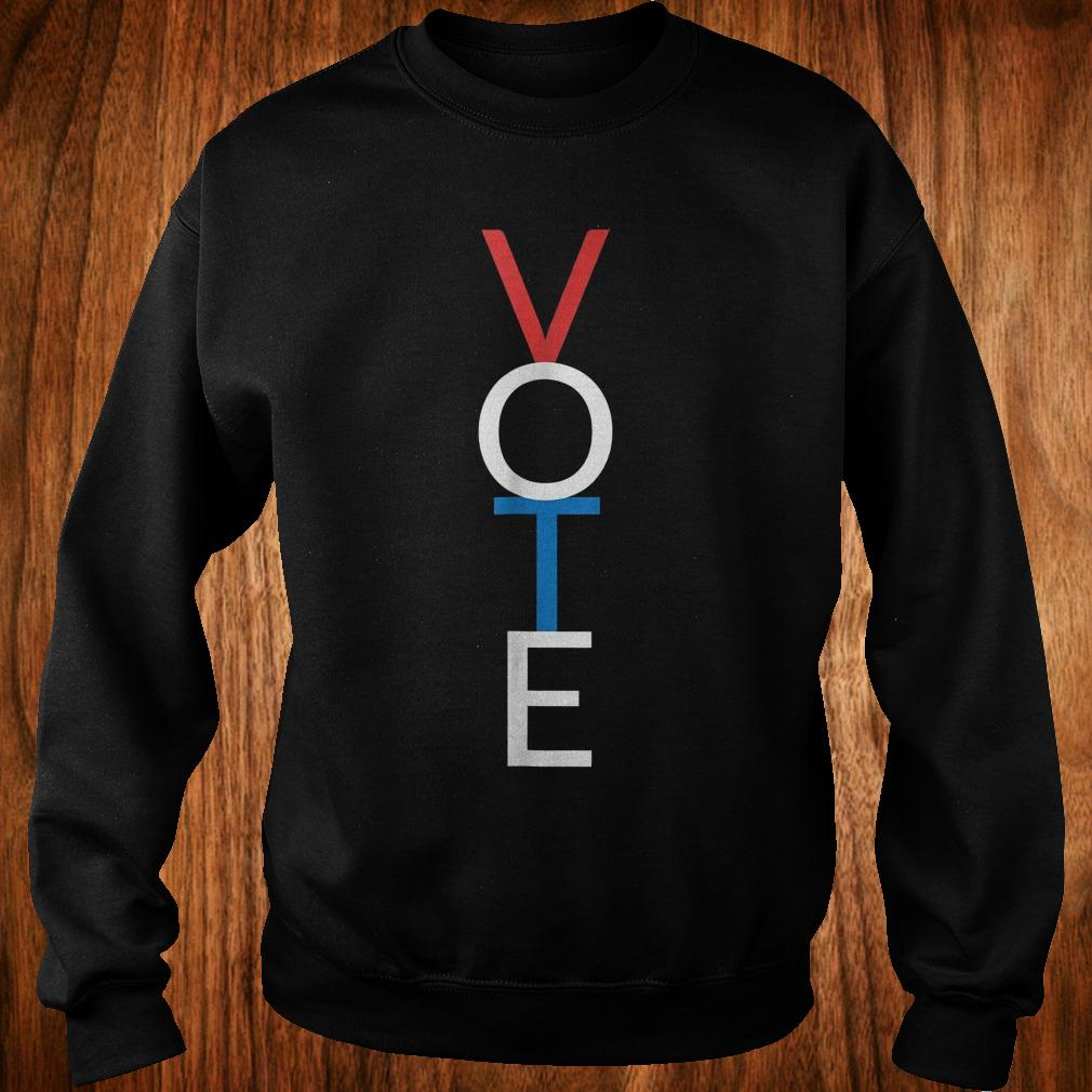 Premium Vote red white blue simple midterm election Shirt Sweatshirt Unisex