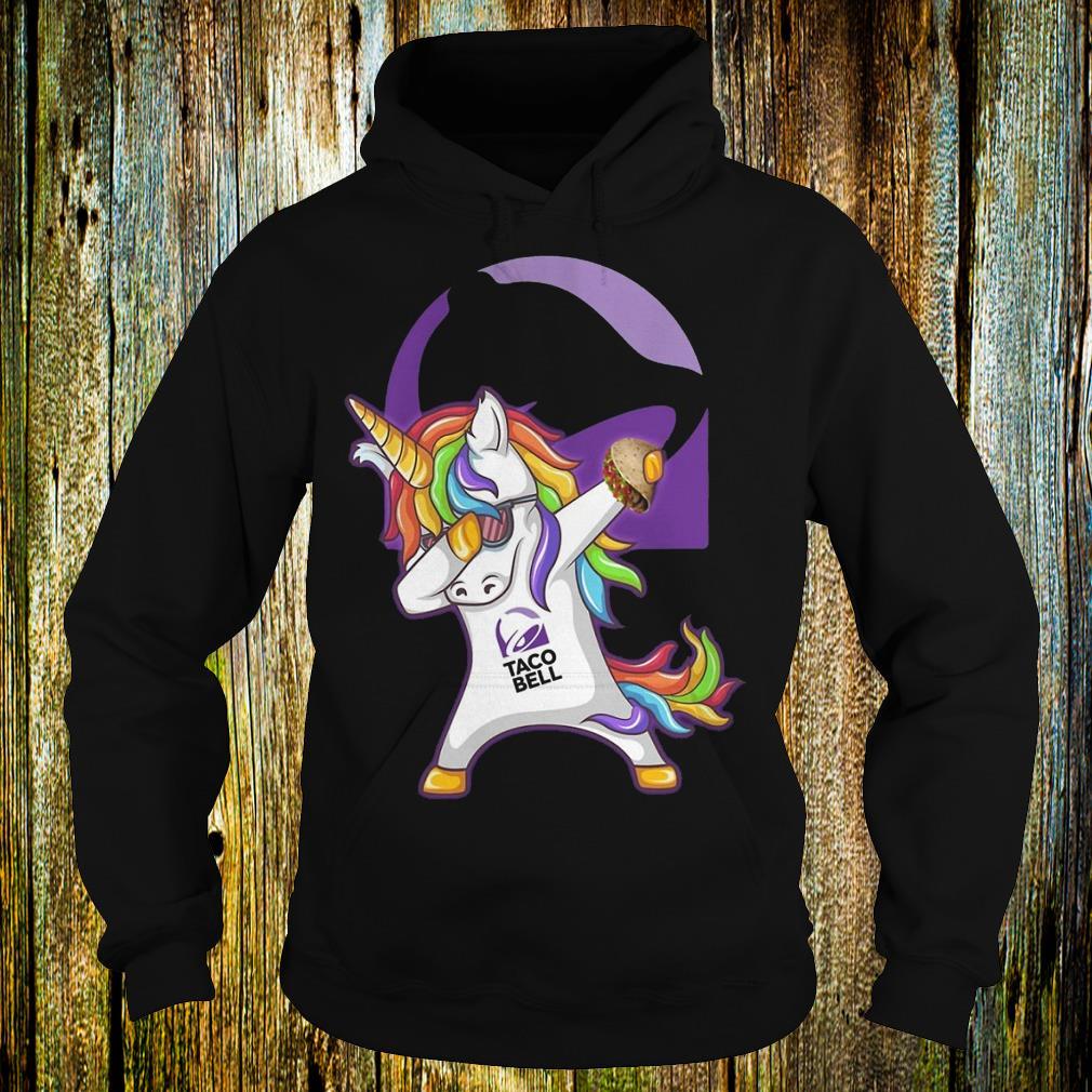 Unicorn dabbing Taco Bell Hoodie