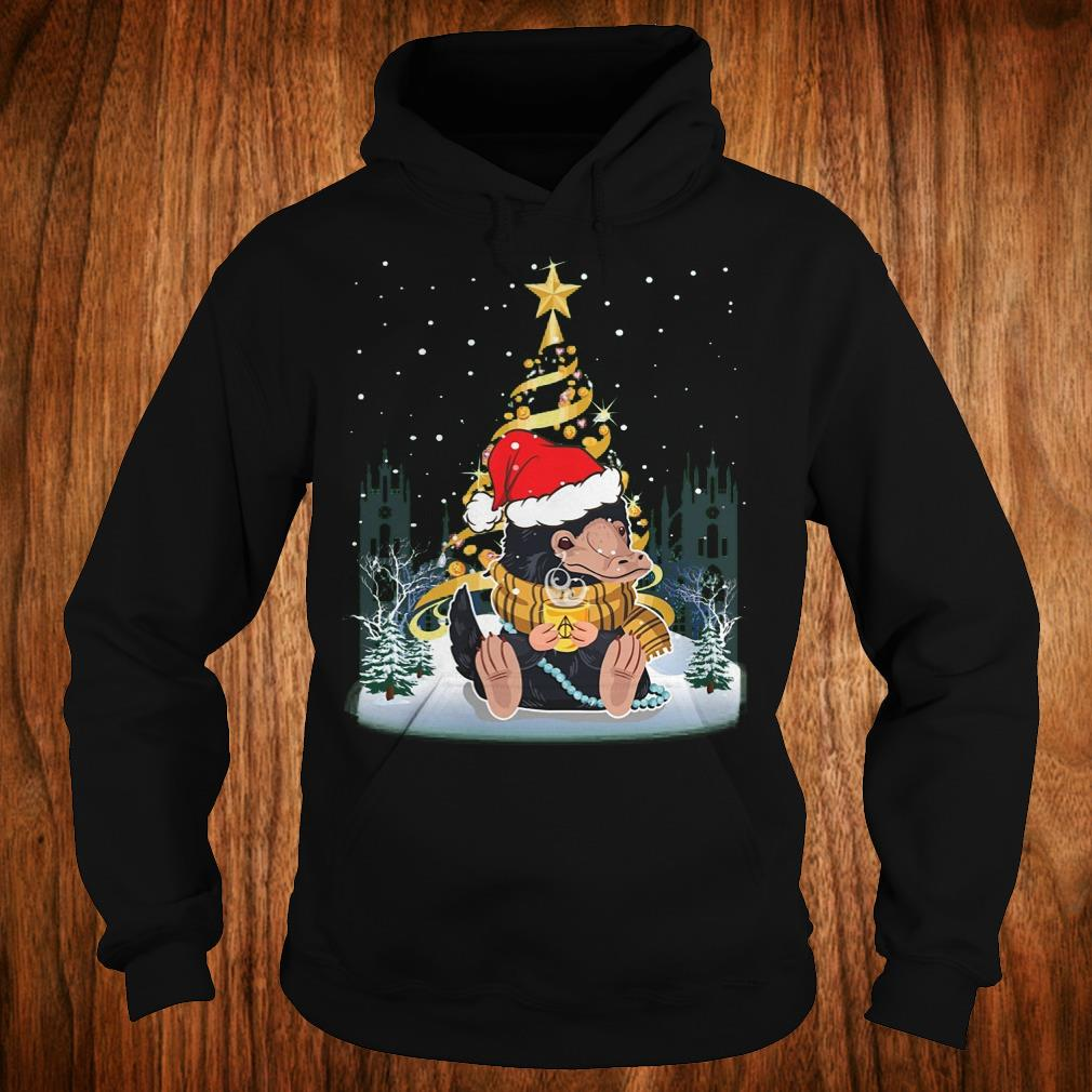 Awesome Niffler with santa hat gold christmas tree shirt Hoodie