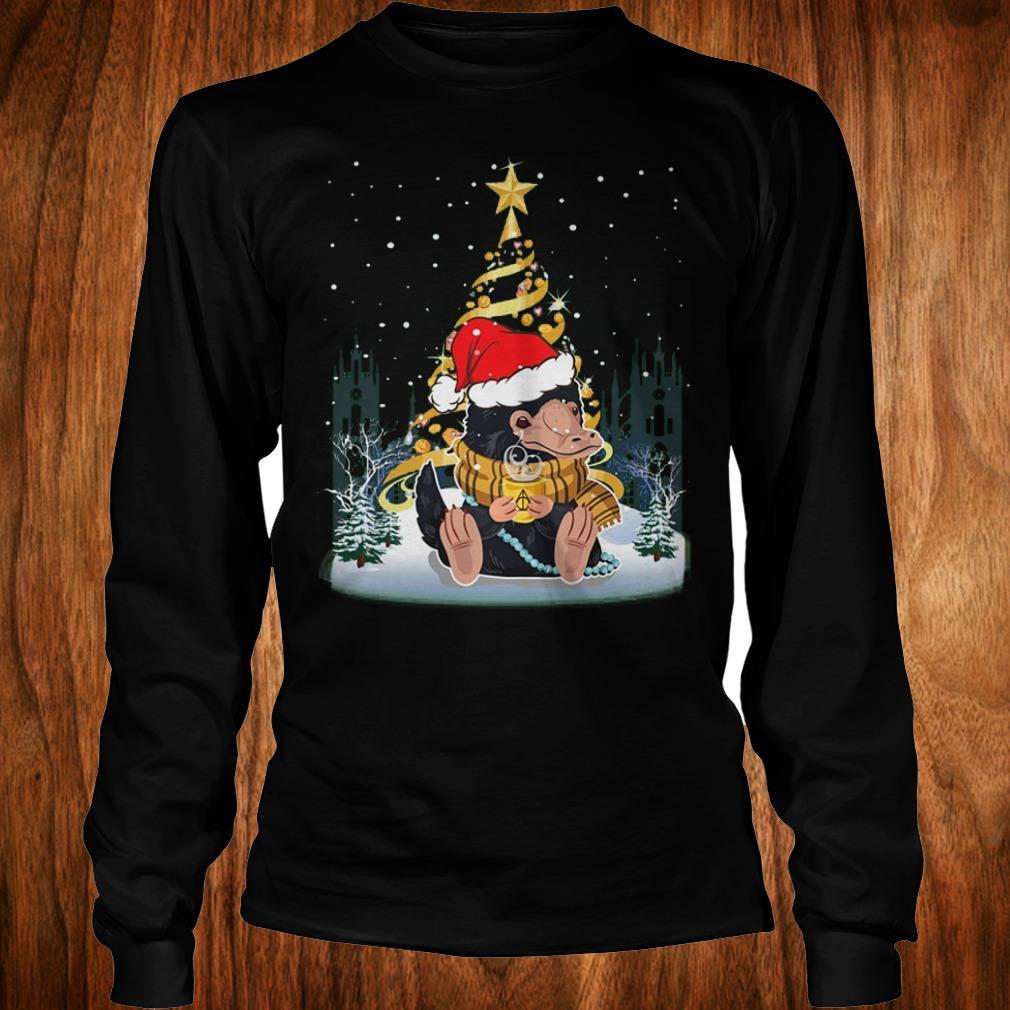 Awesome Niffler with santa hat gold christmas tree shirt Longsleeve Tee Unisex