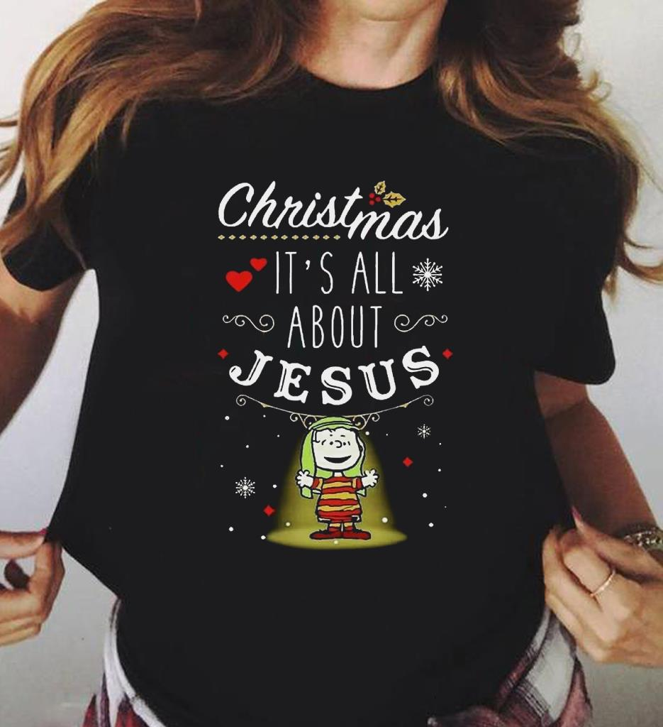 Funny Snoopy And Charlie Brown Christmas It S All About Jesus Shirt 3 1.jpg