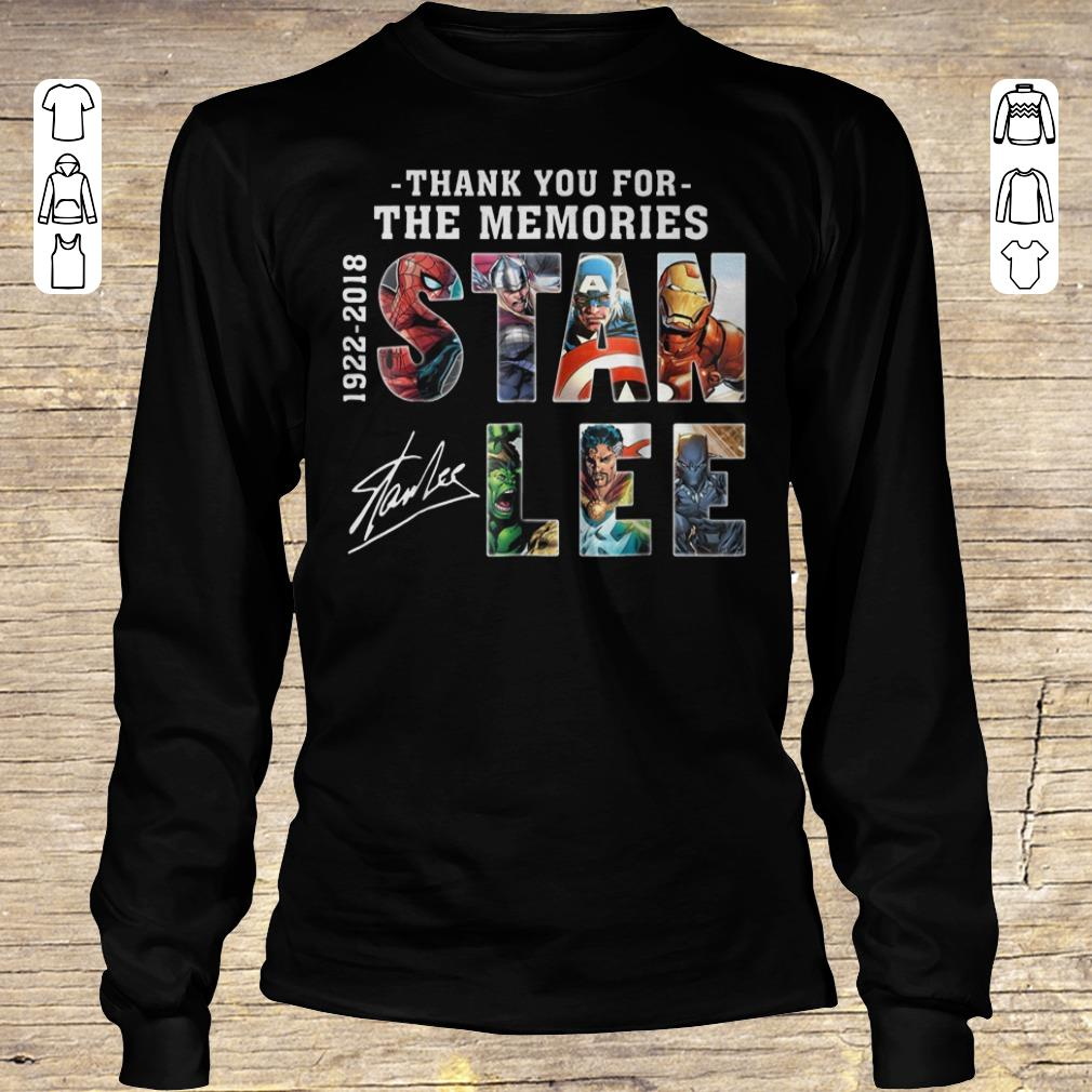 Funny Text Graphic Thank you for the memories Stan Lee shirt sweater Longsleeve Tee Unisex