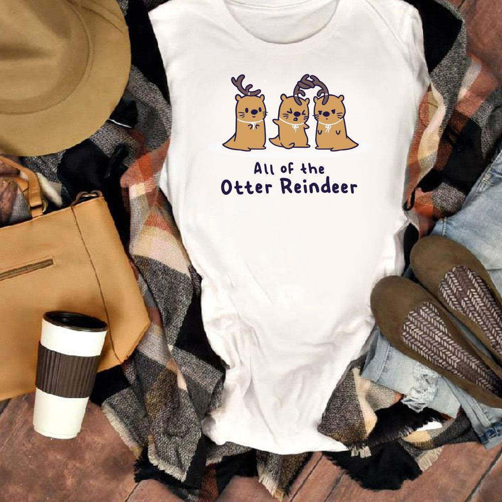 Hot All of the otter reindeer shirt