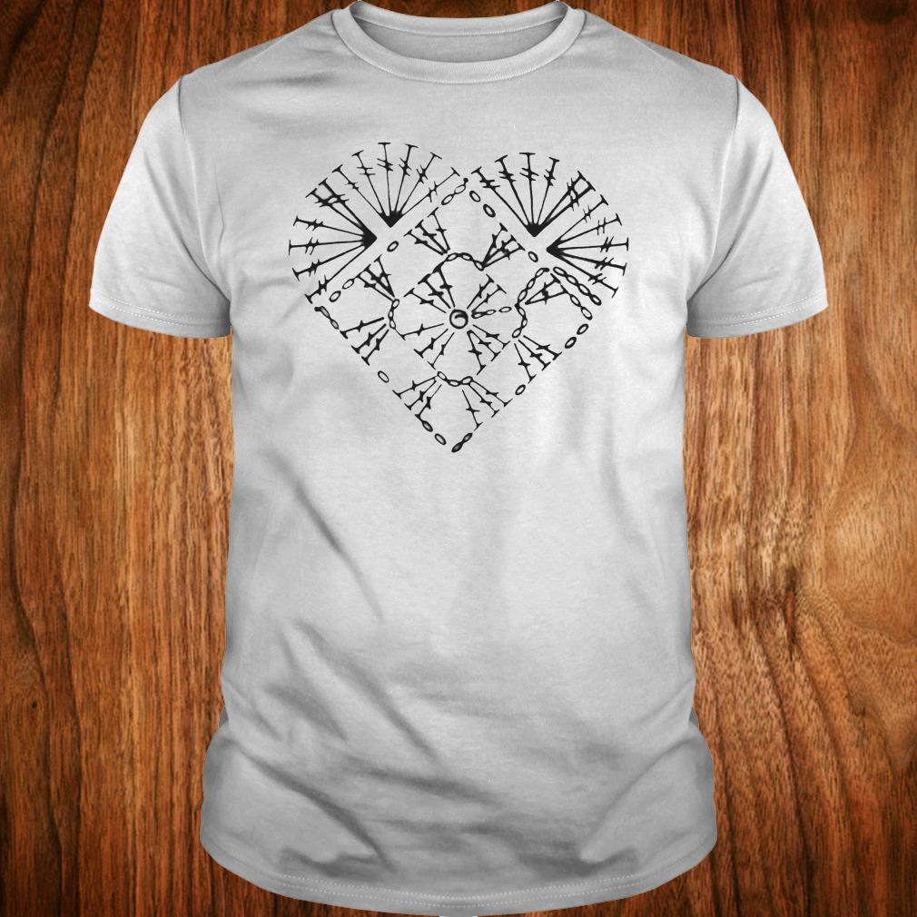 Nice Crochet heart chart shirt Classic Guys / Unisex Tee