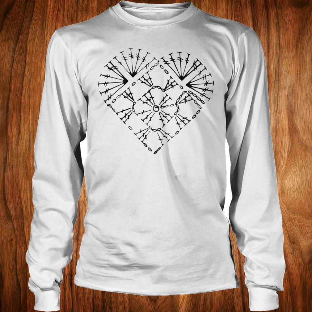 Nice Crochet heart chart shirt Longsleeve Tee Unisex