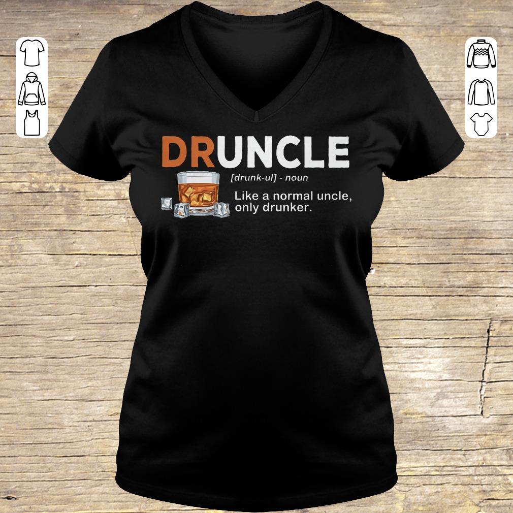 Nice Druncle definition Shirt sweater Ladies V-Neck