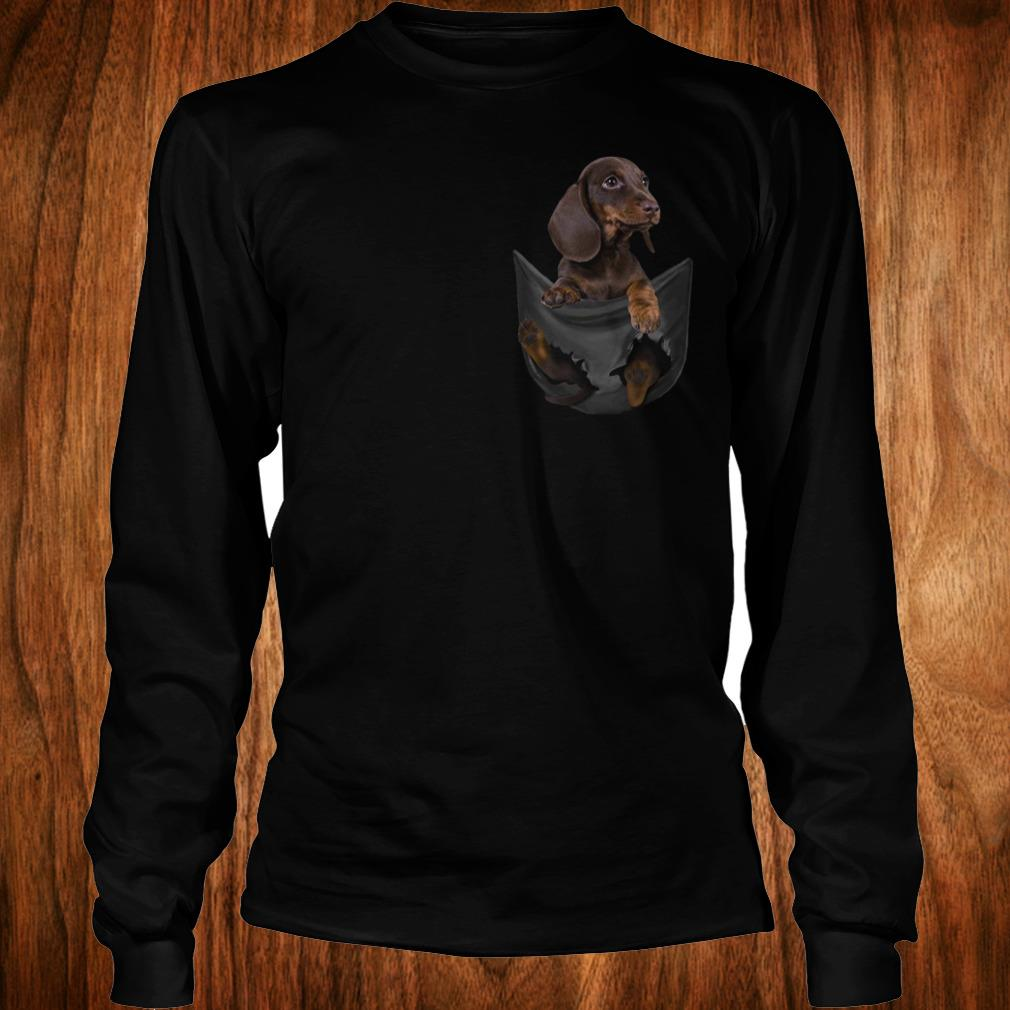 Official Dachshund Tiny Pocket shirt Longsleeve Tee Unisex