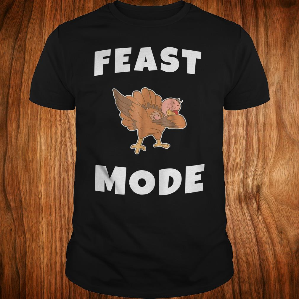 Official Feast Mode Dabbing Turkey Shirt Classic Guys / Unisex Tee