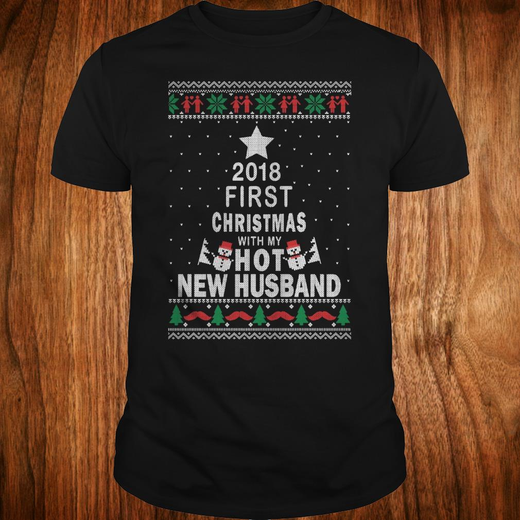 Premium 2018 first christmas with my hot new husband Classic Guys / Unisex Tee