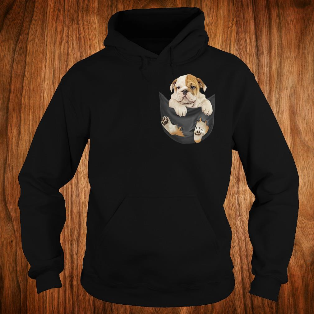 Premium Bulldog Tiny Pocket shirt Hoodie