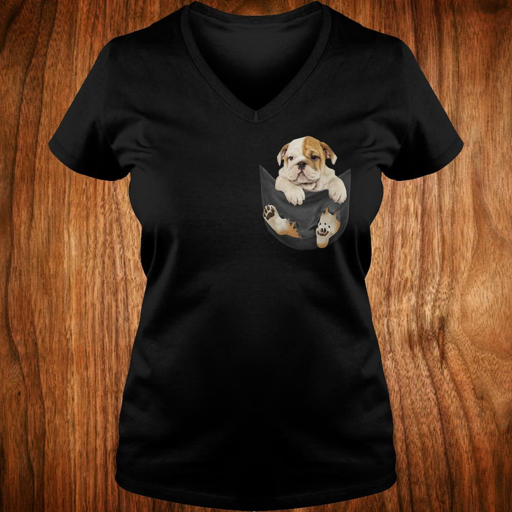 Premium Bulldog Tiny Pocket shirt Ladies V-Neck