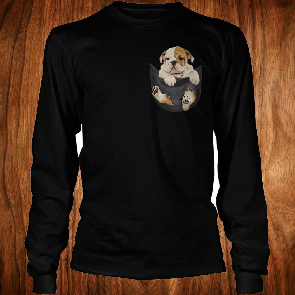Premium Bulldog Tiny Pocket shirt Longsleeve Tee Unisex