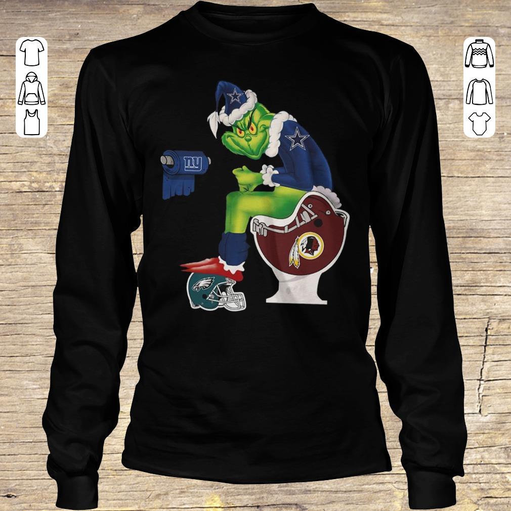 Premium Dallas Cowboys Grinch Santa Washington Redskins Toilet shirt, sweater longsleeve Longsleeve Tee Unisex