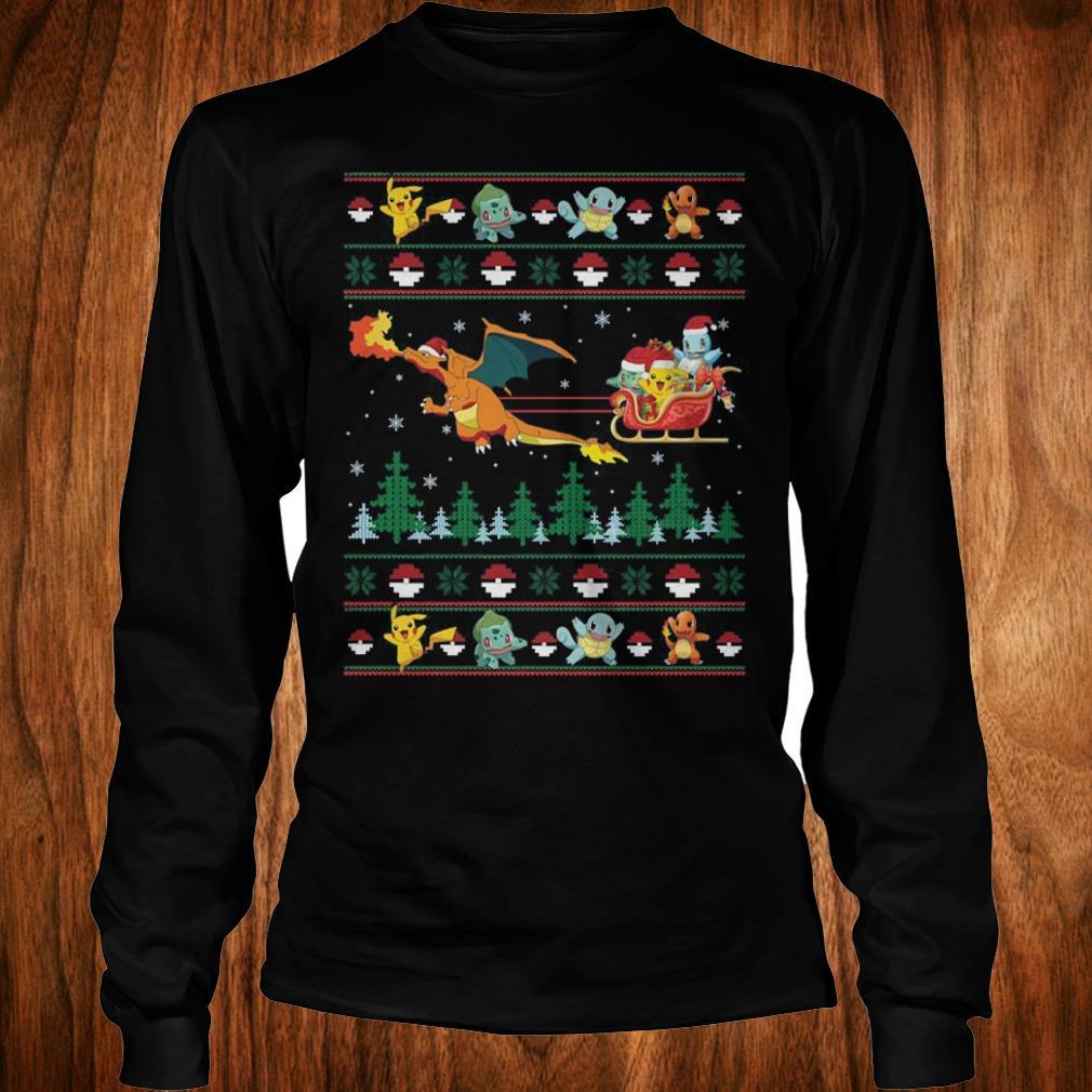 The best Christmas Pokemon Sweater shirt Longsleeve Tee Unisex