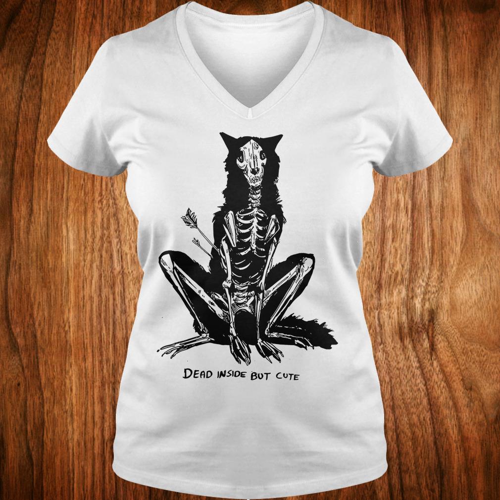 The best Dead inside but cute shirt Ladies V-Neck