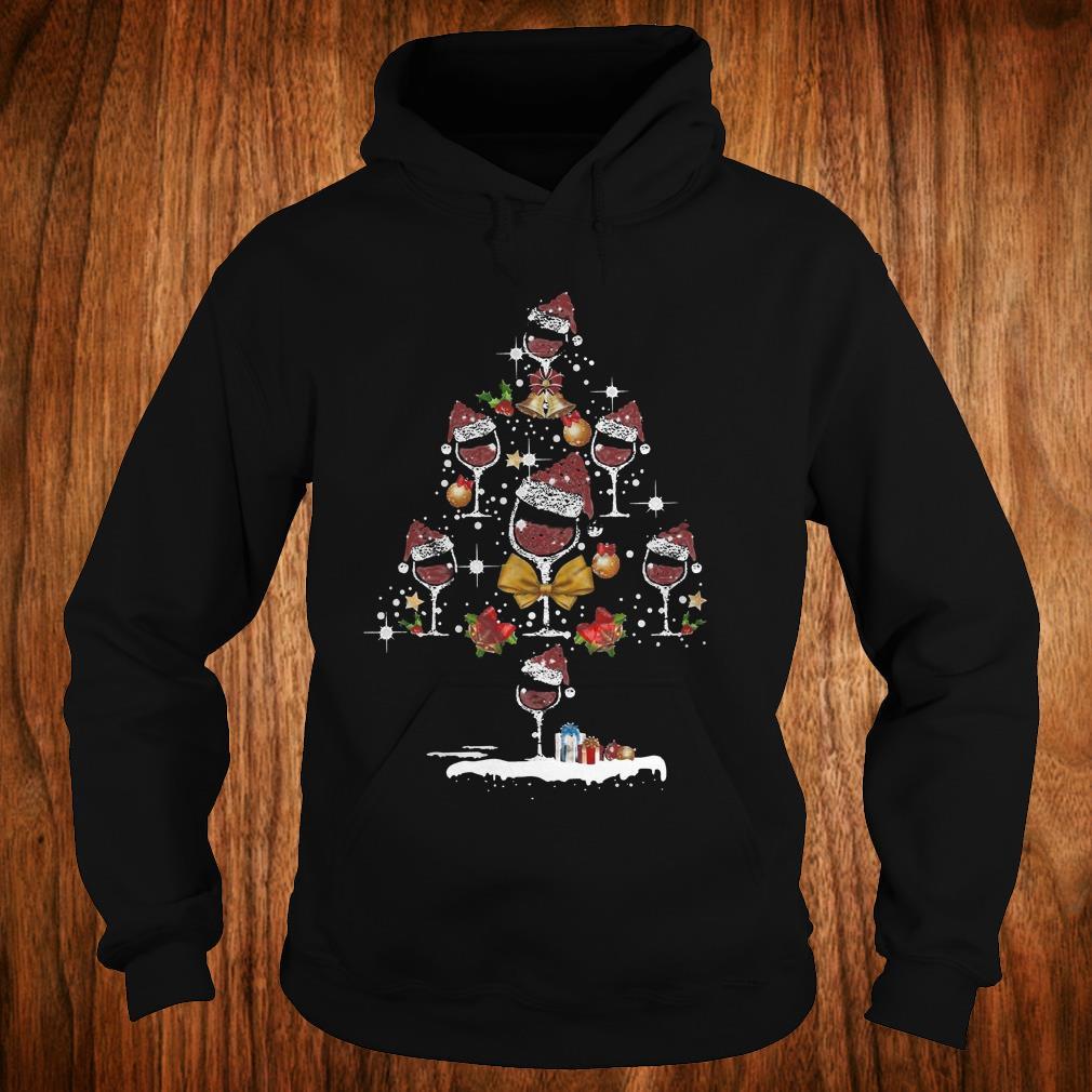 Wine Christmas Tree Shirt.Top Glass Wine Christmas Tree Shirt Hoodie Sweater Sweatshirt