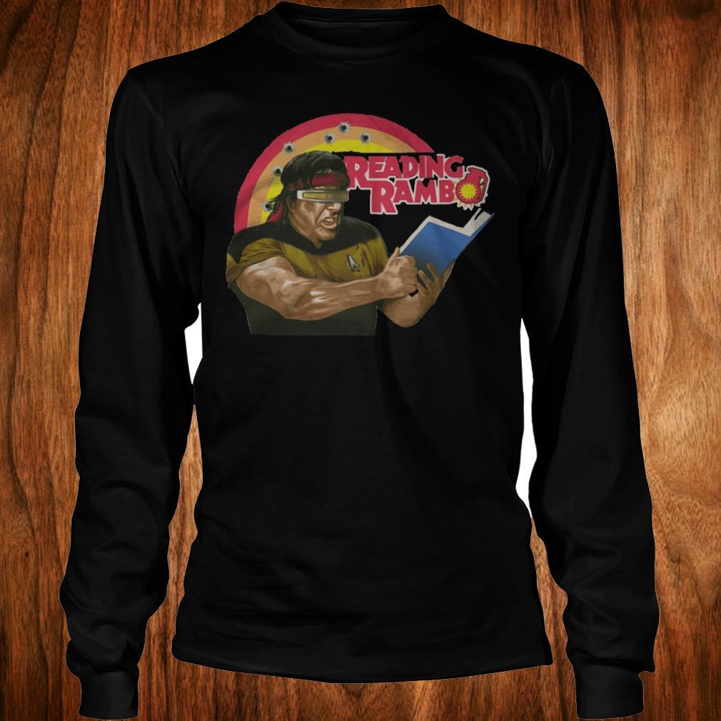 Top Trump Reading Rambo shirt Longsleeve Tee Unisex