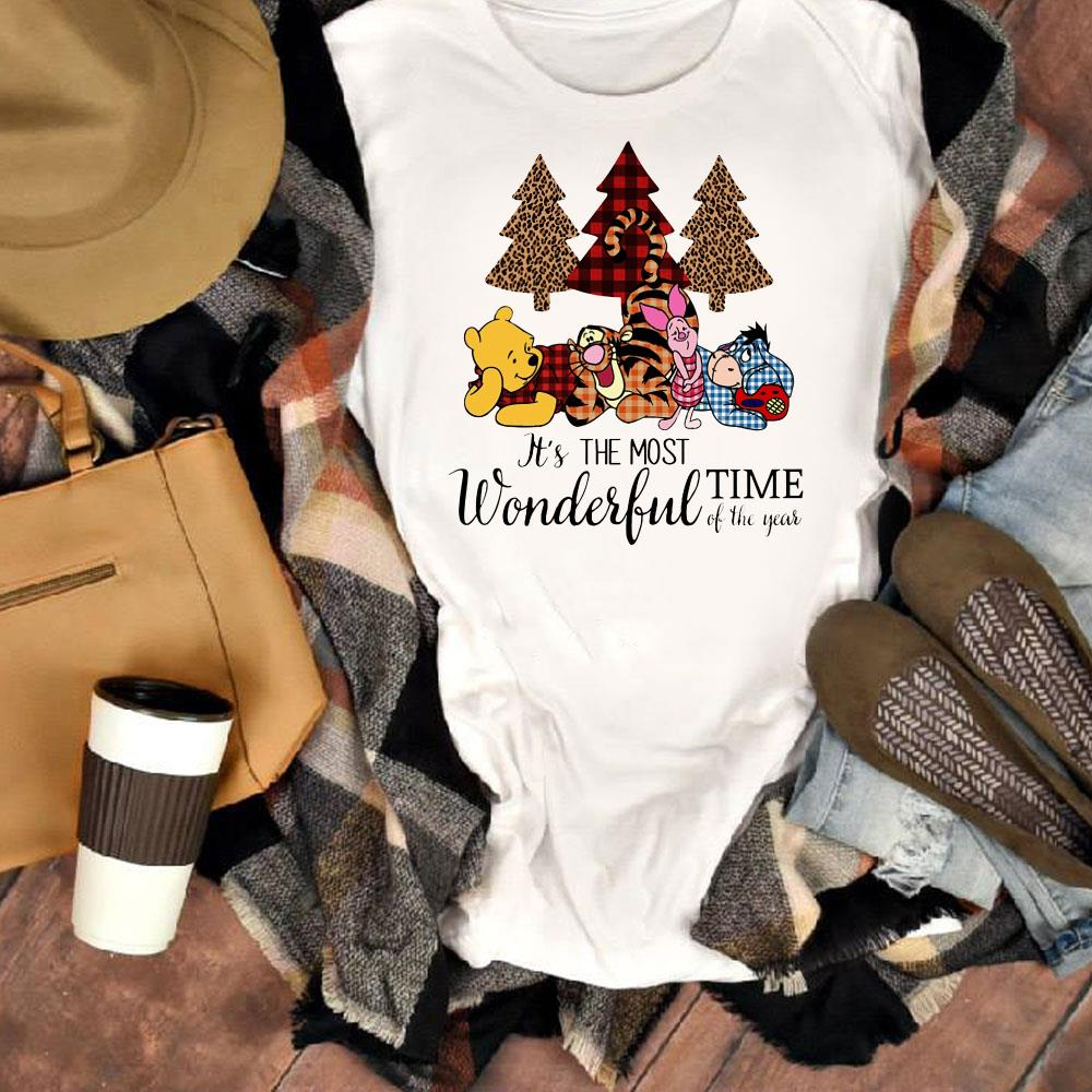 The best Disney's Pooh & Friends It's the most wonderful time of the year shirt