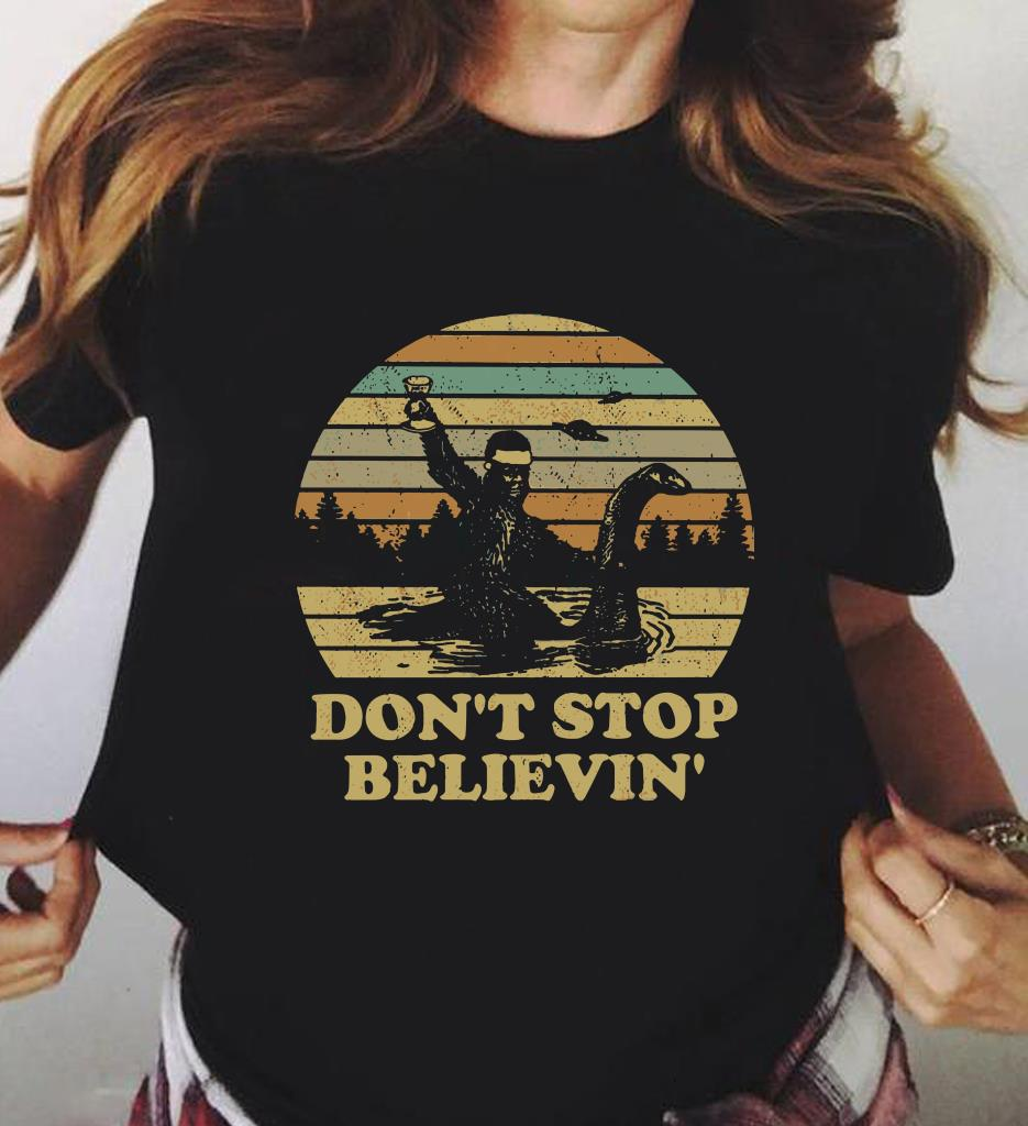 Sunset Bigfoot Riding Nelly Don T Stop Believin Shirt 3 1.jpg