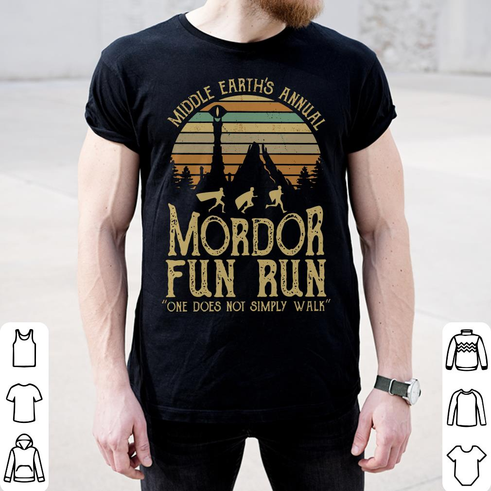 3438f95e Sunset Middle Earth S Annual Mordor Fun Run One Does Not Simply Walk Shirt  2 1