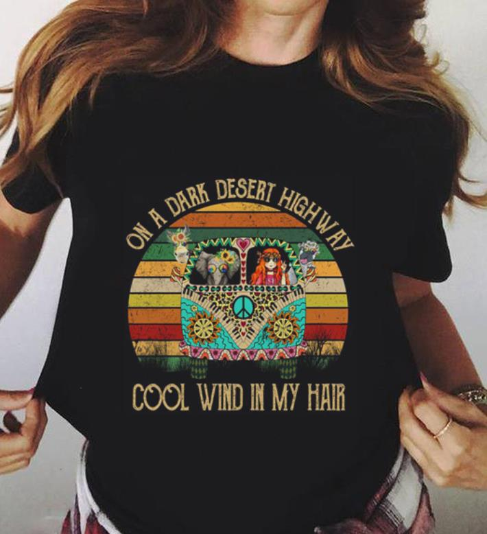 Bus On A Dark Desert Highway Cool Wind In My Hair Hippie Flower Peace Shirt 3 1.jpg