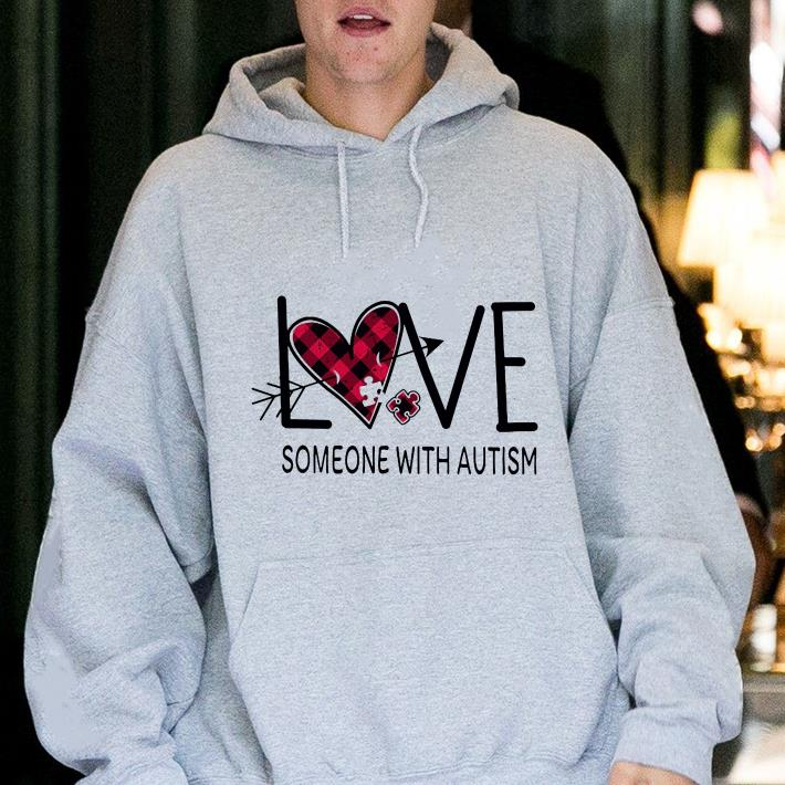 Checquered Heart Love Someone With Autism Shirt 2 1.jpg