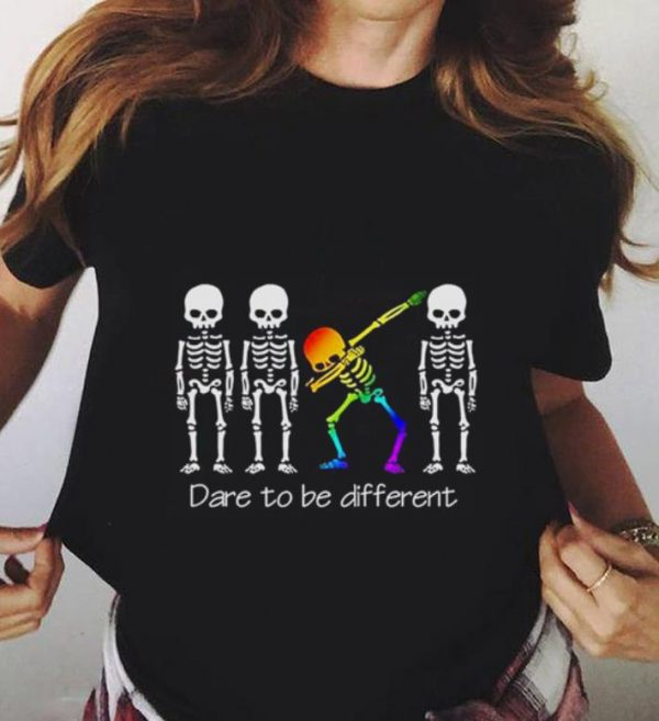 Dare To Be Different Dabbing Skeleton Shirt 3 1.jpg