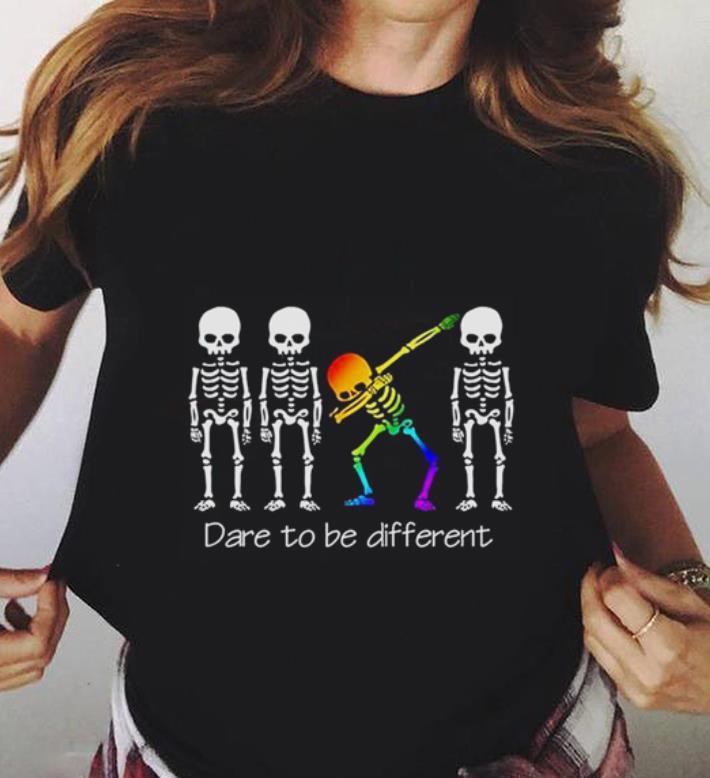 Dare To Be Different Dabbing Skeleton Shirt 3 1.jpg
