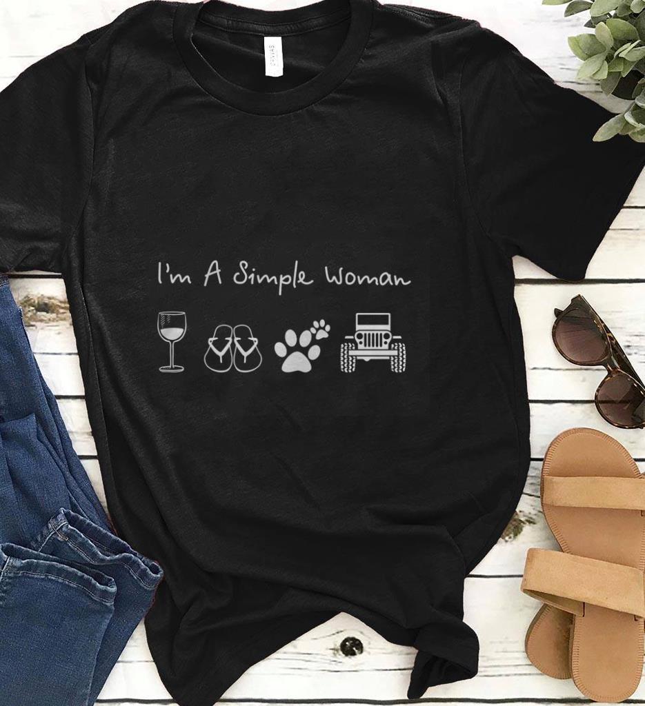 Dog Paw Jeep I M A Simple Woman Glass Wine Flip Flop Shirt 1 1.jpg