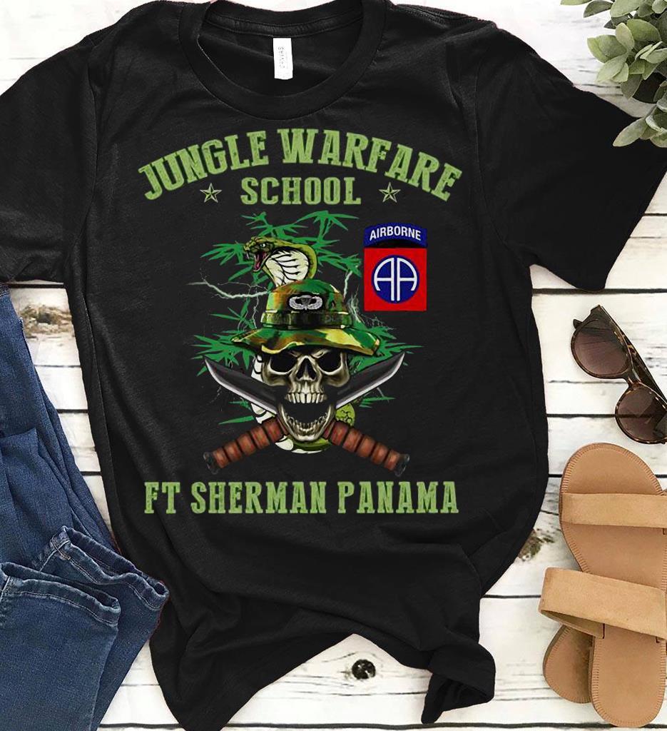 Snake Skull Airborne Jungle Warfare School Ft Sherman Panama Shirt 1 2 1.jpg