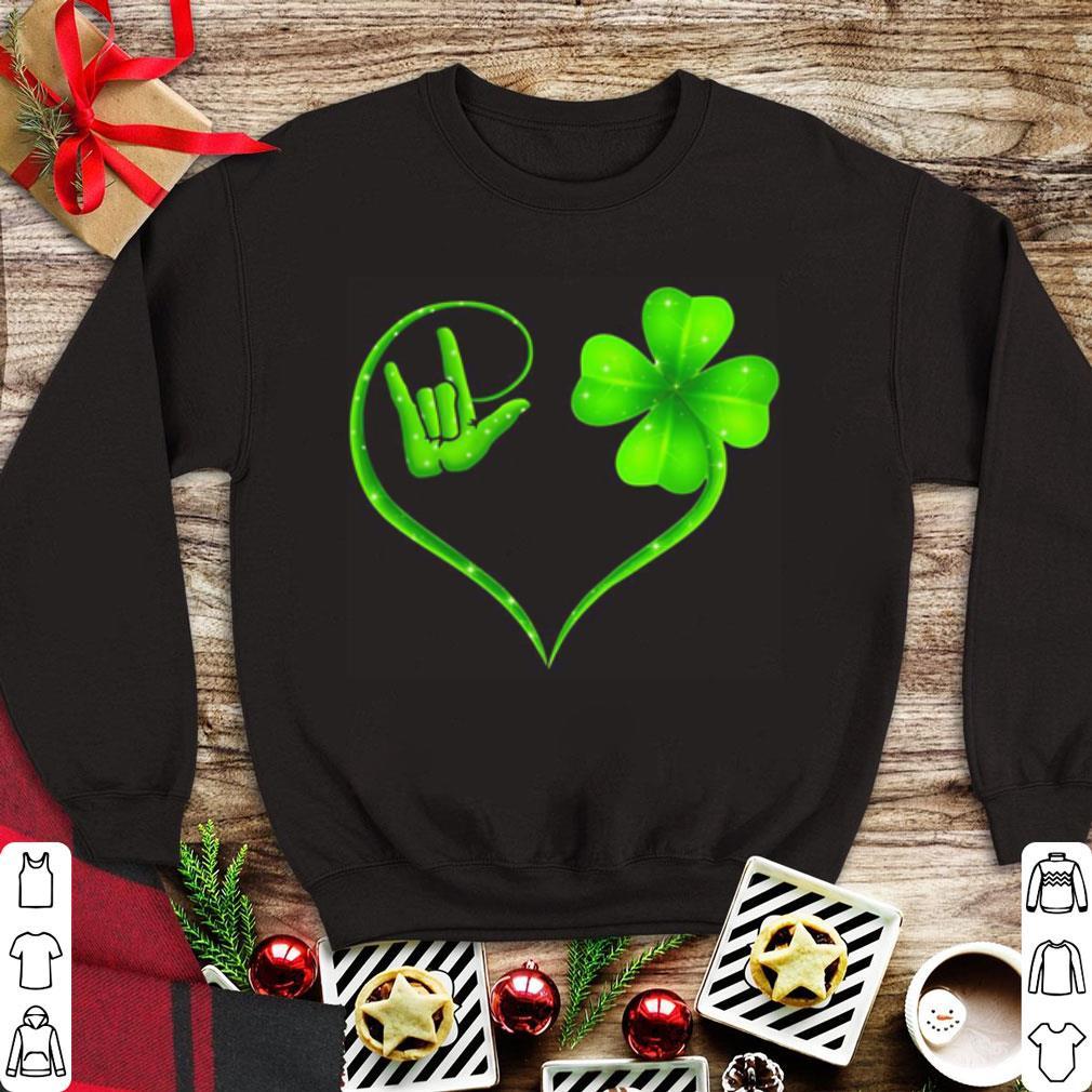 Hand Making I Love You Sign Heart Clover St Patrick S Day Shirt 1 1.jpg