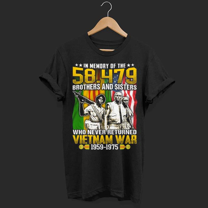 In memory of the 54.479 brothers and sisters Vietnam war 1959-1975 shirt