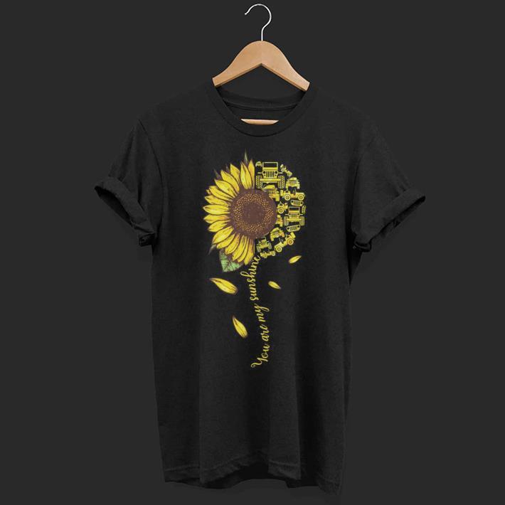 Sunflower You Are My Sunshine Jeep Cars Shirt 1 1.jpg