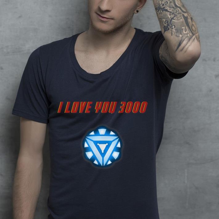 Arc Reactor Iron man I Love You 3000 Marvel Father day shirt