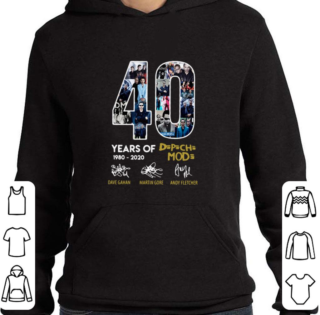 Hot 40 years of 1980-2020 Depeche Mode signatures shirt