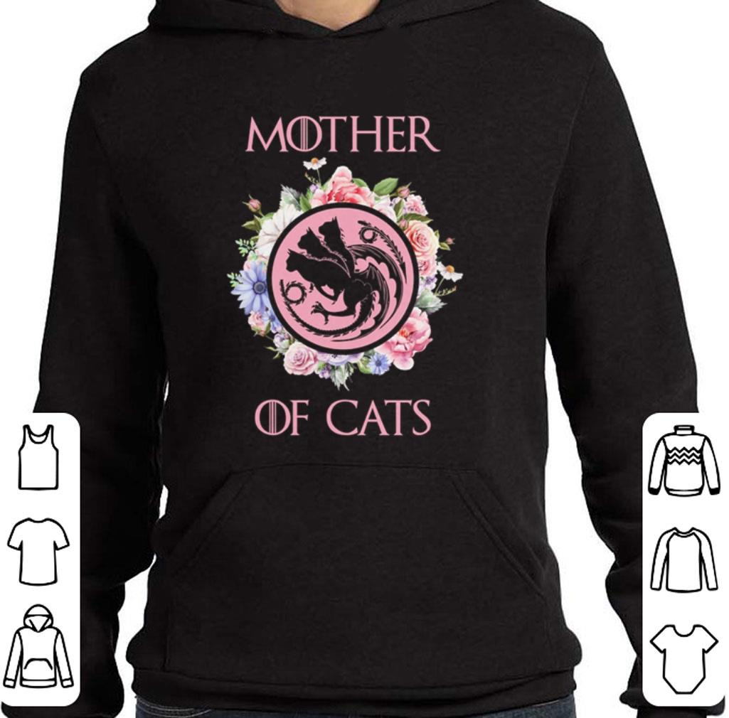 Hot Flowers Mother Of Cats Game Of Thrones shirt