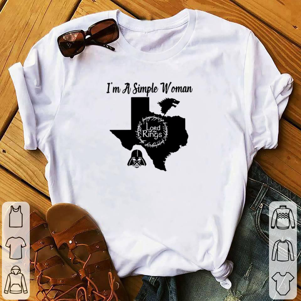 Hot I M A Simple Woman Texas Game Of Thrones Lord Of The Rings Darth Vader Shirt 1 1.jpg