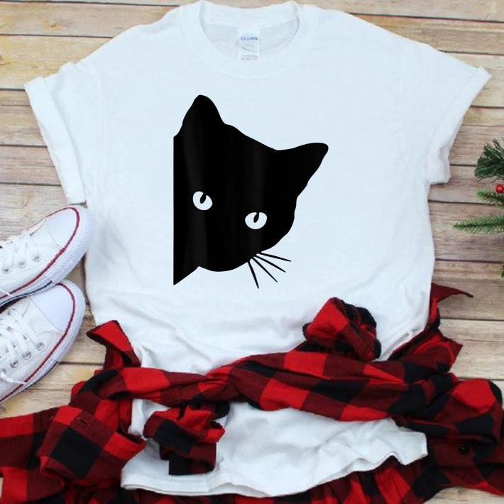 Official Black Cat Face Watching Shirt 1 1.jpg