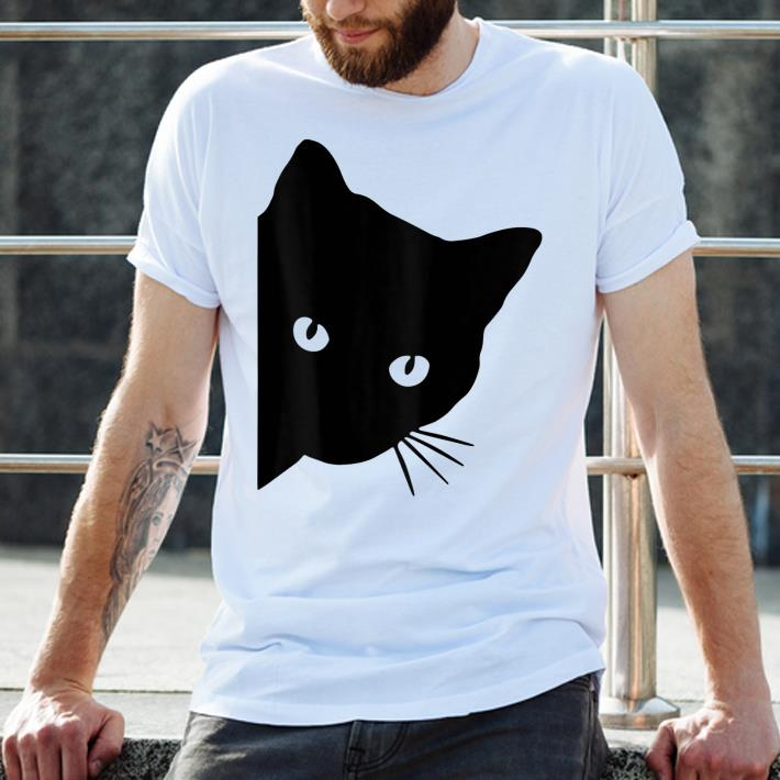 Official Black Cat Face Watching Shirt 2 1.jpg