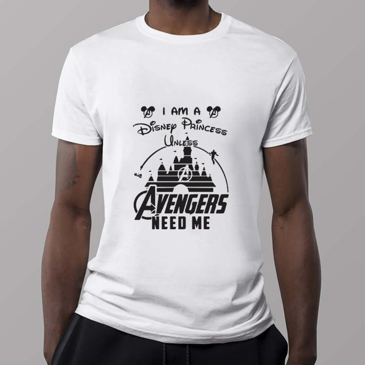 Official I Am A Disney Princess Unless Avengers Need Me Head Mickey Mouse Shirt 2 1.jpg