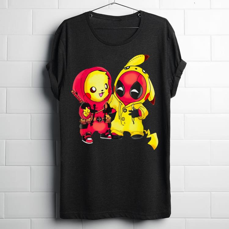 Pikapool mashup pikachu and deadpool shirt