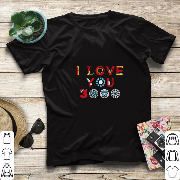 Top Tony Stark Iron man I love you 3000 daughter shirt