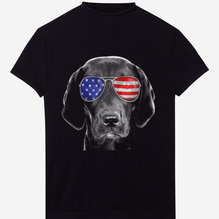 4th Of July Black Lab American Flag Sunglasses Labrador Shirt 1 1.jpg