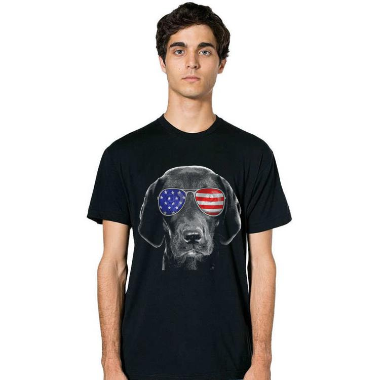 4th Of July Black Lab American Flag Sunglasses Labrador Shirt 2 1.jpg