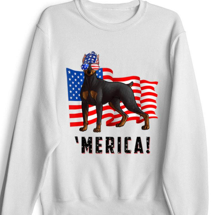 4th Of July Doberman Pinscher Dog Merica Tee Shirt 1 1.jpg
