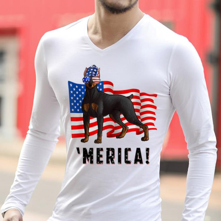 4th Of July Doberman Pinscher Dog Merica Tee Shirt 2 1.jpg